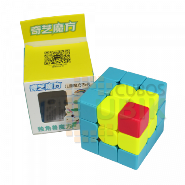 Cubos Rubik Qiyi 3x3 Unicorn Cube Colored