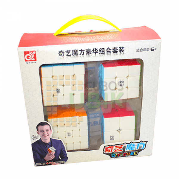 Cubos Rubik QiYi Gift Box 4 Cubos Colored