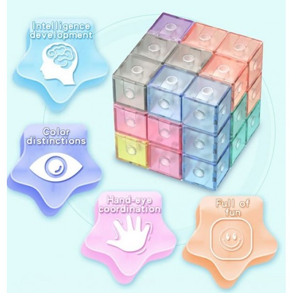 Cubos Rubik Qiyi Magnets Block Jelly (Soma)