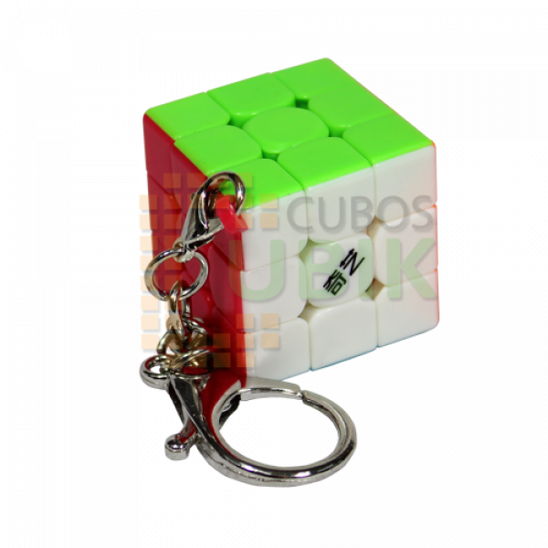 Cubos Rubik Qiyi Llavero Flat mini 3x3 30mm Colored