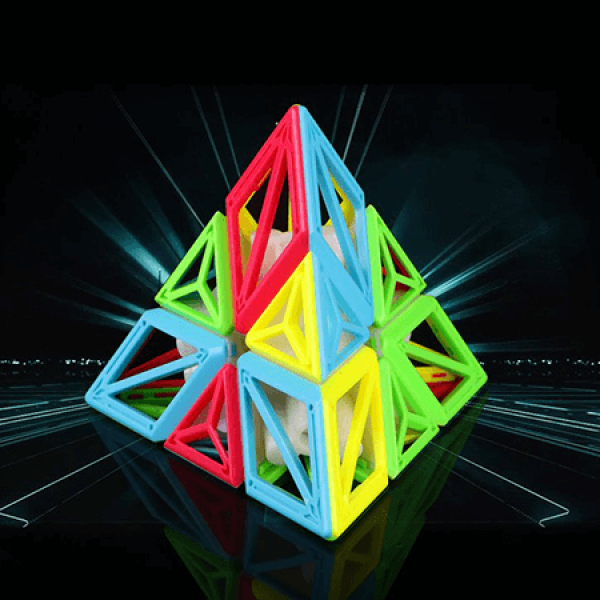 Cubos Rubik Qiyi DNA Pyraminx 3x3 Colored