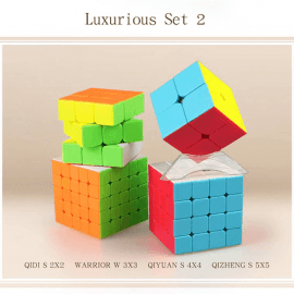 Cubos Rubik QiYi Gift Box 4 Cubos Colored