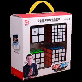 Cubos Rubik QiYi Gift Box 4 Cubos Negro