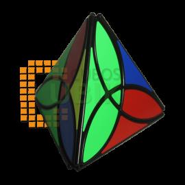 Cubos Rubik Qiyi Clover Pyraminx Negro