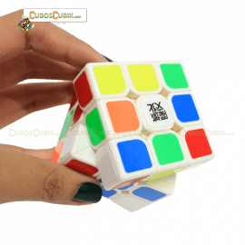 Cubos Rubik Moyu  3x3 Aolong V2 Base Blanca Plus