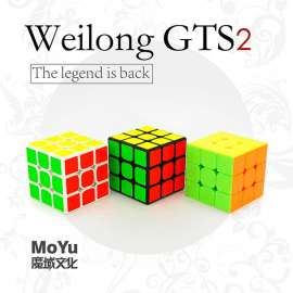 Cubos Rubik Moyu Weilong GTS V2 3x3 Colored