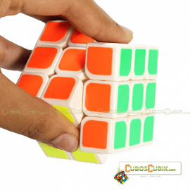 Cubos Rubik YJ Moyu Weilong V2 3x3 54.5mm Mini Base Blanca