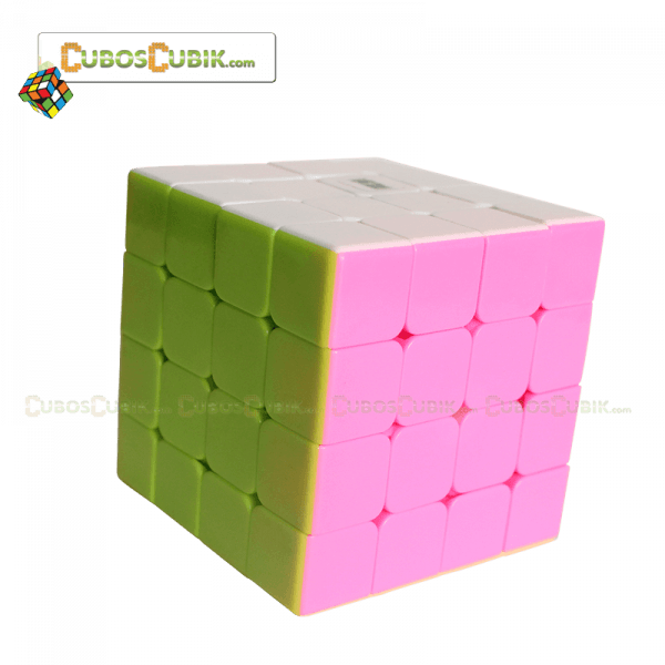 Cubos Rubik Moyu AoSu 60mm Mini 4x4 Pink