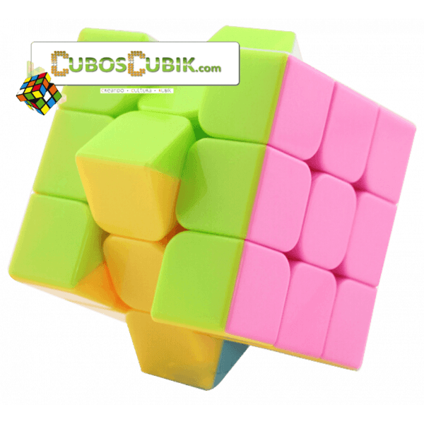 Cubos Rubik Moyu 3x3 Aolong V2 Pink Plus