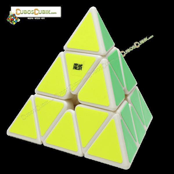 Cubos Rubik Moyu Pyraminx V2 Magnetic Blanco