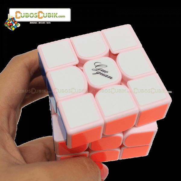 Cubos Rubik Moyu GuoGuan YueXiao 3x3 Base Rosa