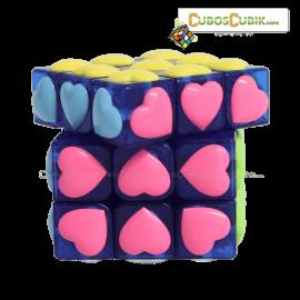 Cubos Rubik YJ Moyu 3x3 Love Azul