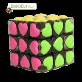 Cubos Rubik YJ Moyu 3x3 Love Humo