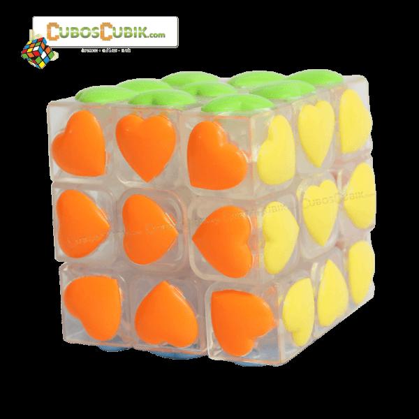 Cubos Rubik YJ Moyu 3x3 Love Transparente