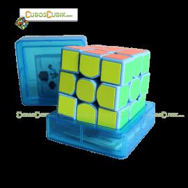 Cubos Rubik Moyu SenHuan 3x3 ZhanShen Mars Base Azul