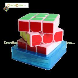 Cubos Rubik Moyu SenHuan 3x3 ZhanShen Mars Base Rosa
