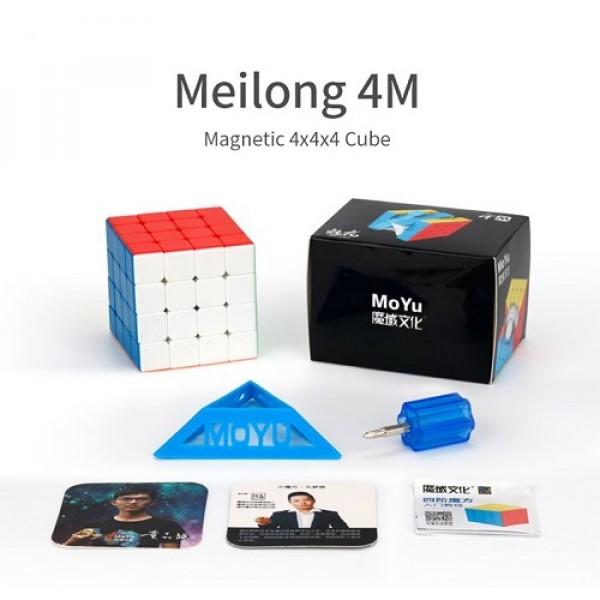 Cubos Rubik Moyu Meilong 4x4 Magnético Colored