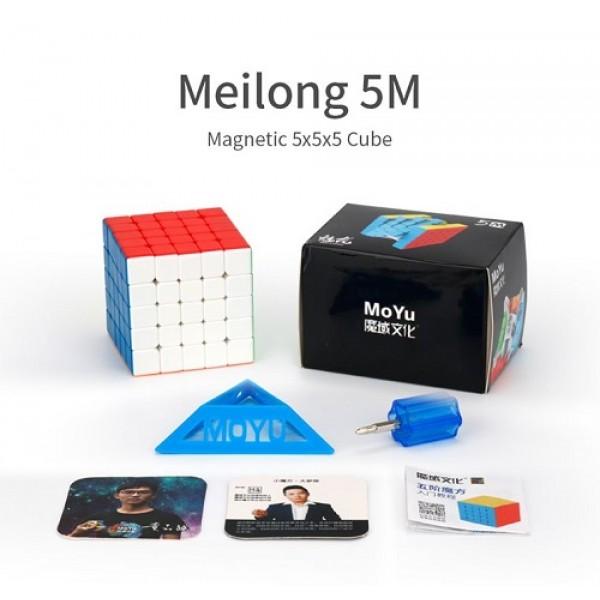 Cubos Rubik Moyu Meilong 5x5 Magnético Colored