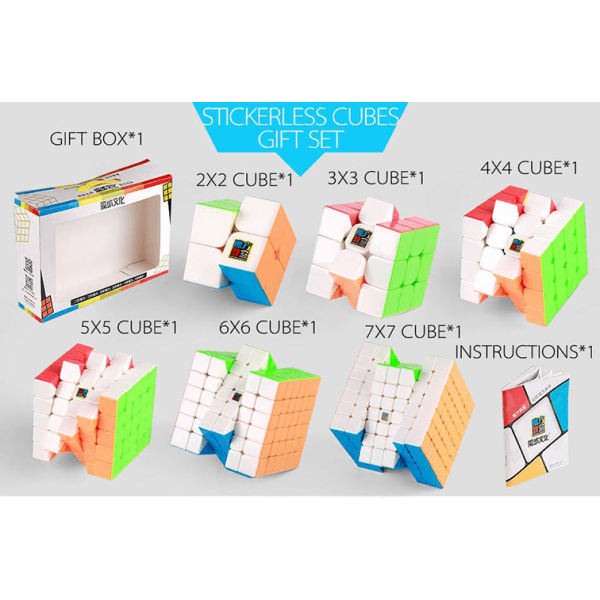 Cubos Rubik Moyu Classroom WCA NxN Gift Box Colored
