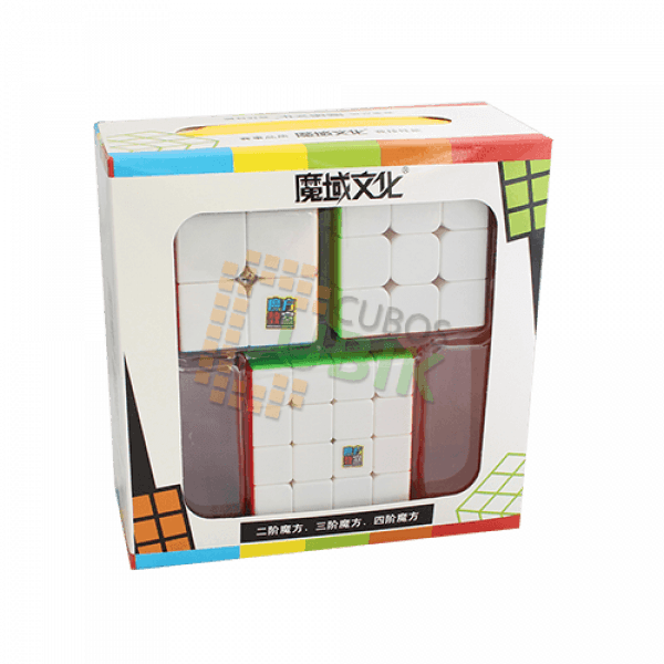 Cubos Rubik Paquete MoYu Gift Box 3 Cubos Colored