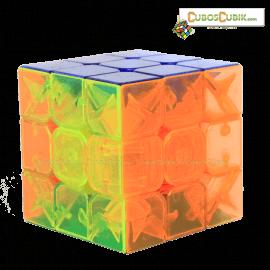 Cubos Rubik Moyu 3x3 Aolong V2 Transparente Plus