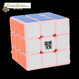Cubos Rubik Moyu 3x3 Tanglong Base Rosa
