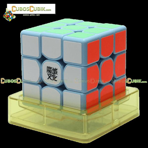 Cubos Rubik Moyu Weilong GTS 3x3 Base Azul