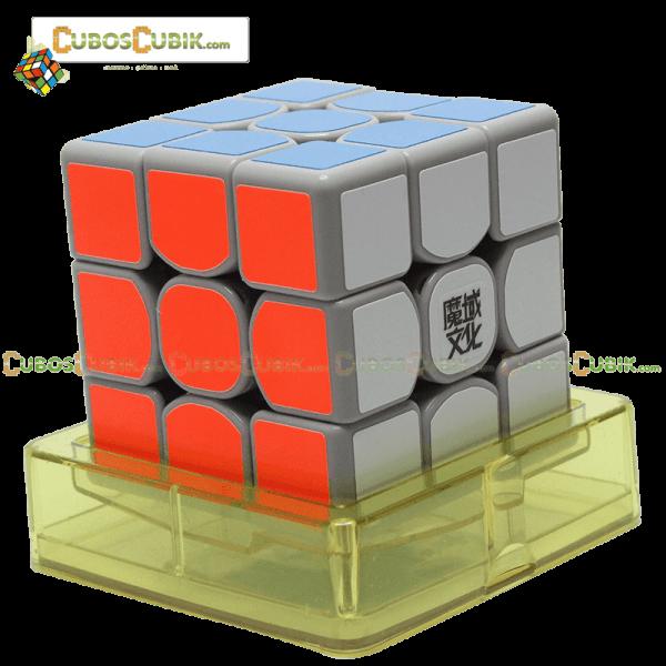 Cubos Rubik Moyu Weilong GTS 3x3 Base Gris