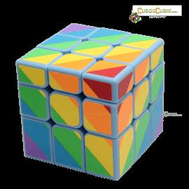 Cubos Rubik YJ Moyu Rainbow Inequilateral Base Azul