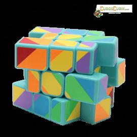 Cubos Rubik YJ Moyu Rainbow Inequilateral Base Verde