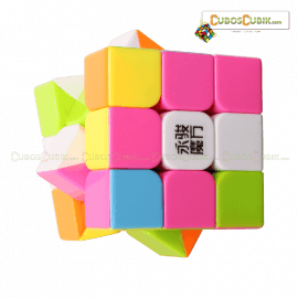 Cubos Rubik YJ Moyu Yulong 3x3 Colored Pink Ed