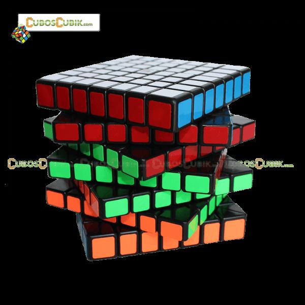 Cubos Rubik YJ Moyu GuanFu 7x7 Negro
