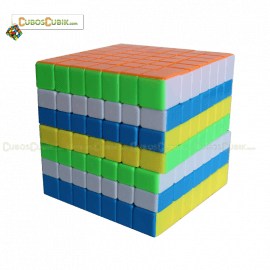 Cubos Rubik YJ Moyu YuFu 7x7 Colored