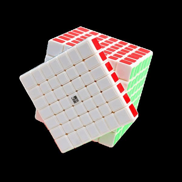 Cubos Rubik YJ Moyu GuanFu 7x7 Blanco