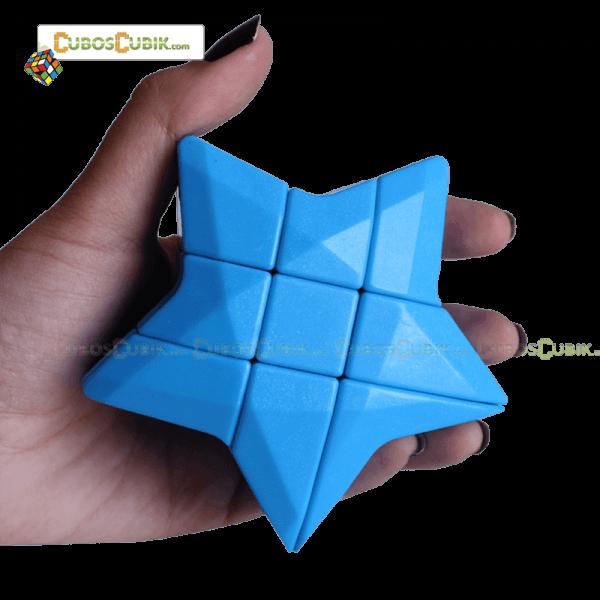 Cubos Rubik Forma Estrella 3x3 Azul