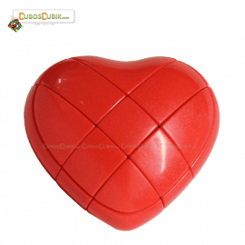 Cubos Rubik Forma Corazon 3x3 Rojo