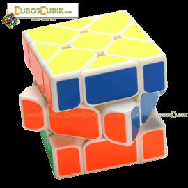 Cubos Rubik YJ Moyu Yileng Fisher Base Blanca