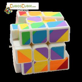 Cubos Rubik YJ Moyu Rainbow Inequilateral Base Blanco