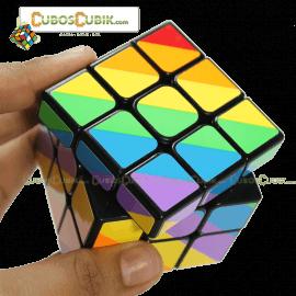 Cubos Rubik YJ Moyu Rainbow Inequilateral Base Negro