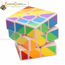 Cubos Rubik YJ Moyu Rainbow Inequilateral Base Rosa