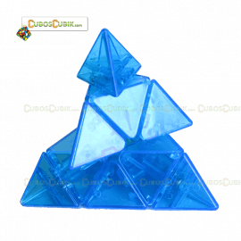 Cubos Rubik Moyu Pyraminx V2 Azul Edicion Limitada Transparente