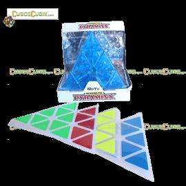 Cubos Rubik Moyu Pyraminx V2 Transparente Azul