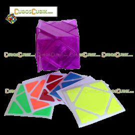 Cubos Rubik Moyu Skewb Magnetic Base Morado Transparente