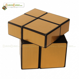 Cubos Rubik Mir-two cube Mirror 2x2 Base Dorada