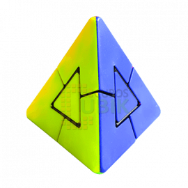 Cubos Rubik Pyraminx Duo LeFun Colored