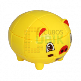 Cubos Rubik Little Pig 3x3 Cerdito Amarillo