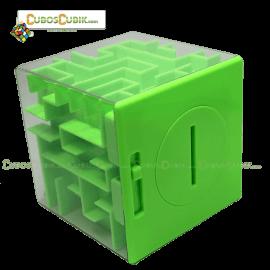 Cubos Rubik Maze Money Alcancía en Cubo Base Verde