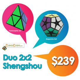 Cubos Rubik Duo ShengShou 2x2 (Megaminx y Pyramorphix)