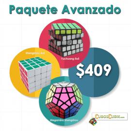Cubos Rubik Paquete Avanzado ( Shengshou 4x4 Blanco, Shengshou Megaminx Negro, Moyu 5x5 Yuchuang negro )