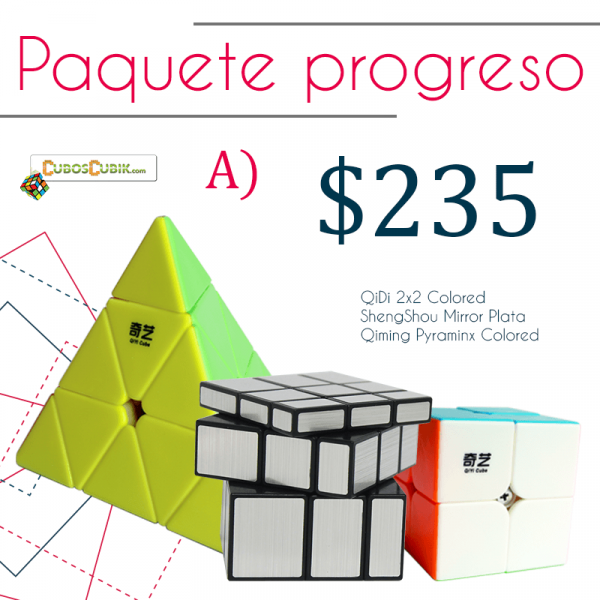 Cubos Rubik Paquete Progreso (2x2, Mirror, Pyraminx)